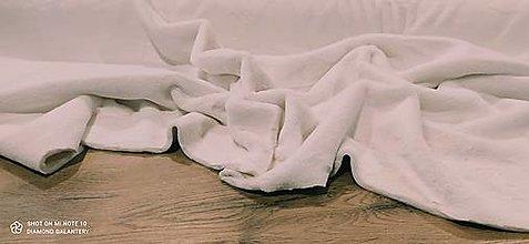 Textil - Kožušina poťahová - cena za 10 centimetrov  (Krémová) - 12431229_