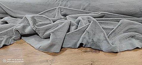 Textil - Kožušina poťahová - cena za 10 centimetrov  (Šedá) - 12431236_
