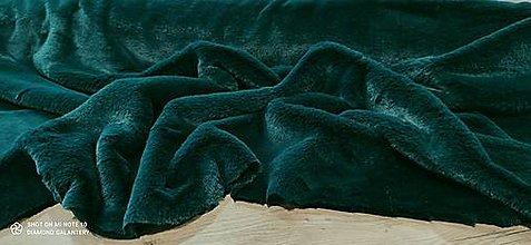 Textil - Kožušina poťahová - Smaragdovo zelená - cena za 10 centimetrov - 12431246_