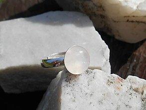 Prstene - rosa ring in silver-ruženín-prsteň - 12429283_