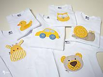 Detské oblečenie - optimistické body, tričko - veselé zvieratká - 12427676_