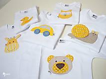 Detské oblečenie - optimistické body, tričko - veselé zvieratká - 12427677_