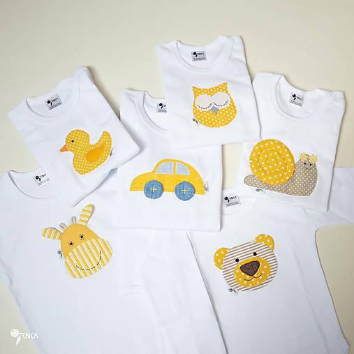 optimistické body, tričko - veselé zvieratká