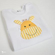 Detské oblečenie - body ŽIRAFKA (dlhý/krátky rukáv) - 12427606_