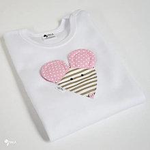 Detské oblečenie - body MYŠKA HRYZKA (dlhý/krátky rukáv) - 12427650_