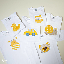 Detské oblečenie - optimistické body, tričko - veselé zvieratká - 12427678_