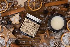 AKCIA - Sviečka zo sójového vosku v hnedom skle - Vianočná Pohoda