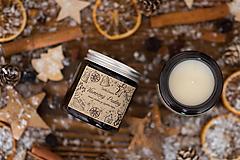 POSLEDNÉ KUSY - Sviečka zo sójového vosku v hnedom skle - Vianočný Puding