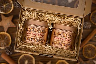 Svietidlá a sviečky - Darčeková sada sviečok zo 100% sójového vosku v plechovke Rosegold - 12427343_