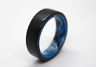 Prstene - Ebenový prsteň Inlace - 12428847_
