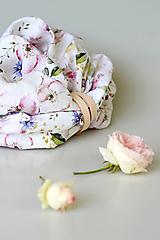 "Šály - Exkluzívny kvetinový dámsky nákrčník zo 100% ľanu ""LinenRose"" - 12428826_"
