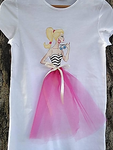 Detské oblečenie - Maľované tričko princezná - 12427951_