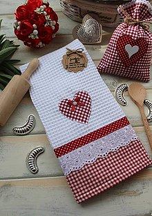 Úžitkový textil - Vidiecka utierka-vafle - 12429768_