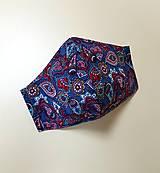 Rúška - Dizajnové bavlnené rúško - 12430869_
