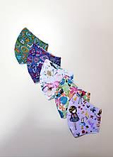 Rúška - Dizajnové bavlnené rúško - 12430946_