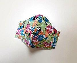 Rúška - Dizajnové bavlnené rúško (Tropical) - 12430882_