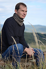 Šály - Nákrčník pánsky YAN, 100% merino - 12428621_
