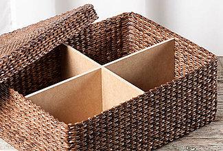 Košíky - Krabica s vrchnákom - 12427416_