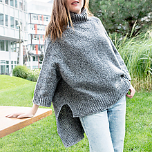 Svetre/Pulóvre - Dámsky šedý dizajnový sveter - 12431298_