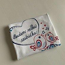 Detské oblečenie - Maľované tričko pre budúcu sestričku (Folk na tričku s dlhým rukávom) - 12430096_