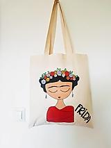 Nákupné tašky - •ručne maľovaná plátená taška• - 12428413_