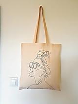 Nákupné tašky - •ručne maľovaná plátená taška• - 12428586_