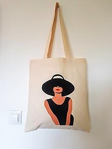 Nákupné tašky - •maľovaná plátená taška - Oh Audrey!• - 12428464_