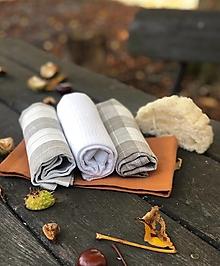 Úžitkový textil - Darčeková súprava ľanových utierok - 12429962_