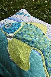 Úžitkový textil - Vankúš s menom a rybkou - 12431286_