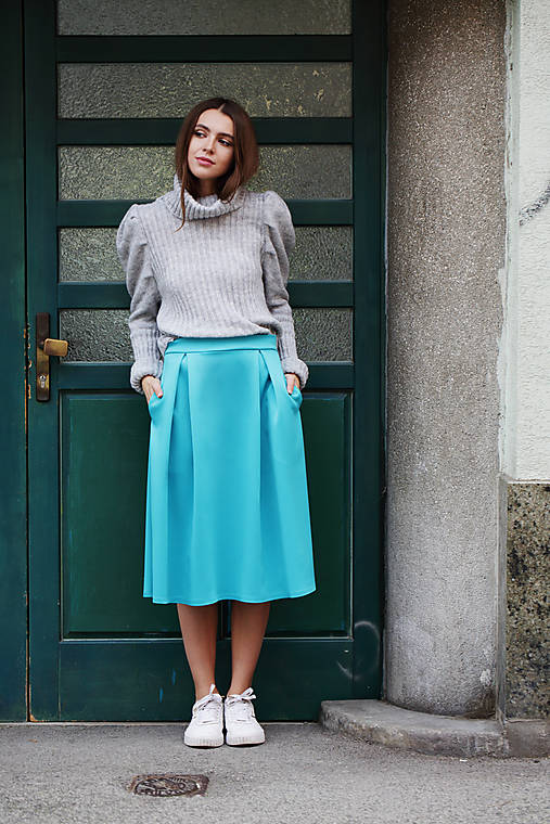 Tyrkysová sukň Mia