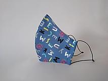 Rúška - Dizajnové rúško tvarované s písmenami dvojvrstvové - 12432378_