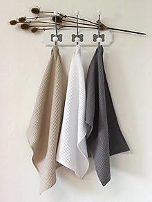 Úžitkový textil - Utierka vafle Natur (viac farieb) - 12436242_