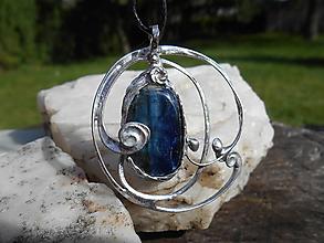 Náhrdelníky - BLUE -kyanit-disten-náhrdelník II - 12436110_