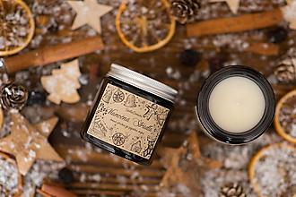 Svietidlá a sviečky - AKCIA - Sviečka zo sójového vosku v hnedom skle - Vianočná Štrúdľa - 12431738_