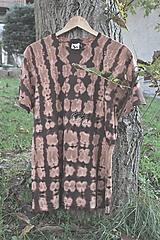 - Tričko _T-shirt_batik_L_uni_brown_hnedá - 12432454_