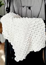 Textil - Detská biela deka - 12434223_