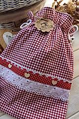 Úžitkový textil - Vidiecke vrecko na pečivo - 12432788_
