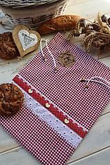 Úžitkový textil - Vidiecke vrecko na pečivo - 12432791_