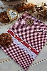 Úžitkový textil - Vidiecke vrecko na pečivo - 12432792_