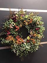 Dekorácie - Jesenný Veniec na dvere pre Zuzku - 12435846_
