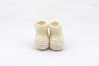 Detské topánky - Smotanové papučky EXTRA FINE - 12433335_