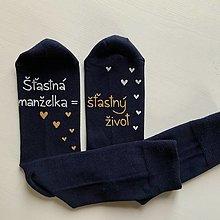 Obuv - Maľované ponožky pre manžela :) - 12435975_