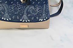 Batohy - modrotlačový batoh Martin béžový 1 - 12435387_