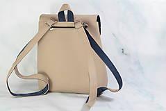 Batohy - modrotlačový batoh Martin béžový 1 - 12435388_