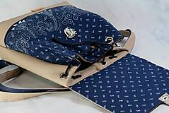 Batohy - modrotlačový batoh Martin béžový 1 - 12435389_