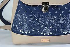 Batohy - modrotlačový batoh Martin béžový 1 - 12435392_