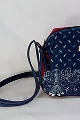 Kabelky - Modrotlačová kabelka Adriana vínovo červená - 12435421_
