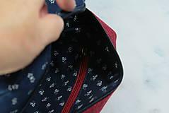Kabelky - Modrotlačová kabelka Adriana vínovo červená - 12435427_