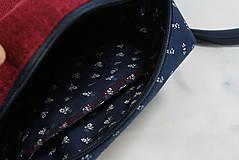 Kabelky - Modrotlačová kabelka Adriana vínovo červená - 12435428_
