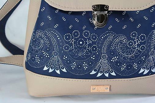 modrotlačový batoh Martin béžový 1